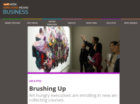 Brushing Up: Art-hungry executives are enrolling in new art-collecting courses (HKTDC Hong Kong Means Business)