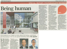 Being human: Special report of postgraduate degrees (SCMP) - covering Ken Wong, Head of International College, HKU SPACE