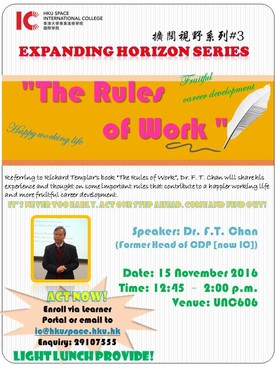 Expanding Horizon Series: The Rules of Work