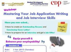 SDCS Workshop : Mastering Your Job Applicatiobn Writing and Job Interview Skills